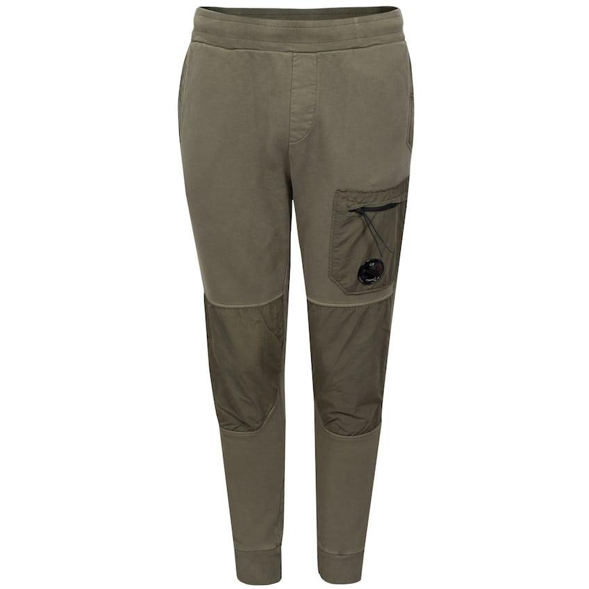 Diagonal Fleece Mixed Utility Pants Stone Grey 0