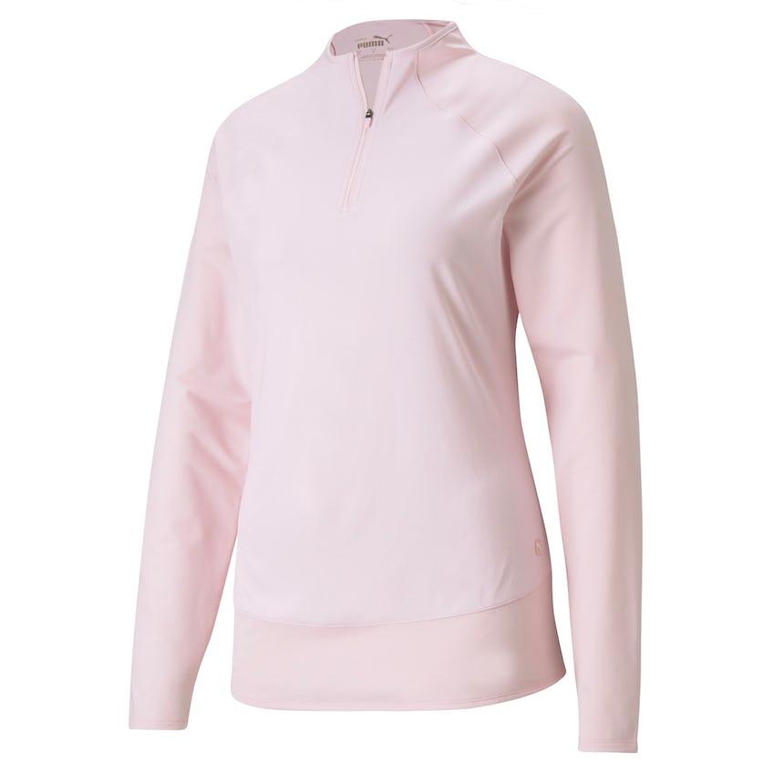 Womens Mesh 1/4 Zip Parfait Pink 0