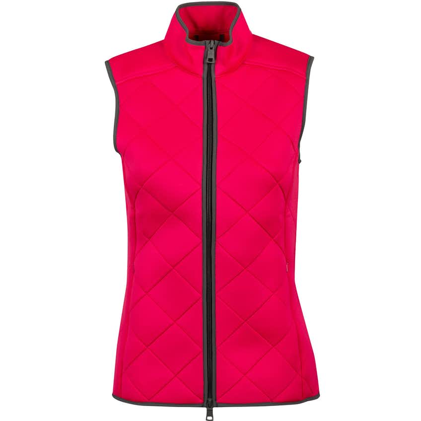 Womens Quilted Tech Vest Bright Rose - AW20