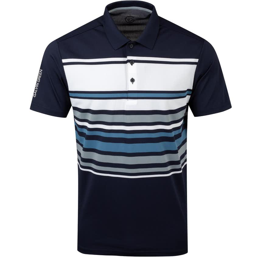 Miguel Ventil8+ Polo Shirt Navy/White/Niagara Blue - AW20