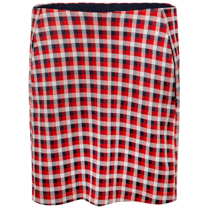 Tory Sport Womens Perfomance Jacquard Skirt Red Perfect Check - AW20