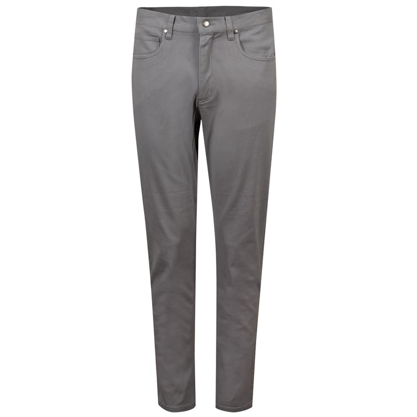 Sueded Cotton Twill 5-Pocket Pant Grey - SS21