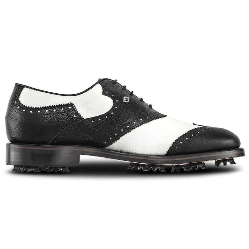 1857 Shield Tip Saddle Shoe White/Black Scotch Grain - AW20