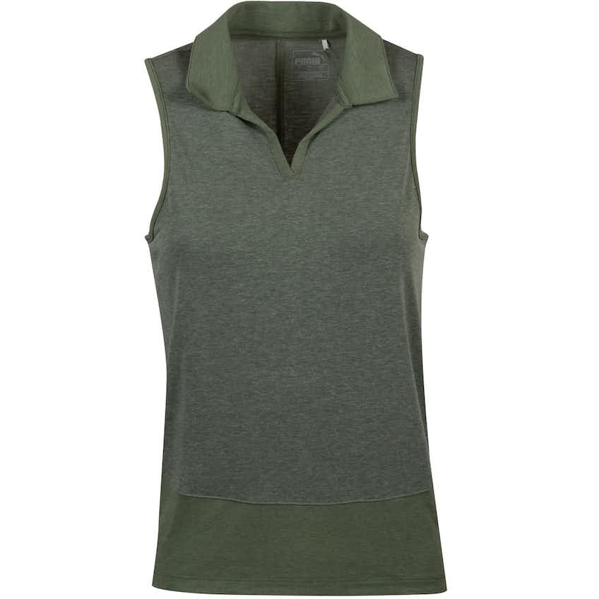Womens Breeze Sleeveless Polo Thyme - AW20
