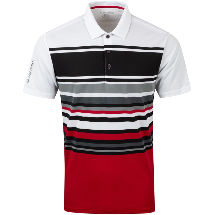 Miguel Ventil8+ Polo Shirt White/Red/Sharkskin - AW20