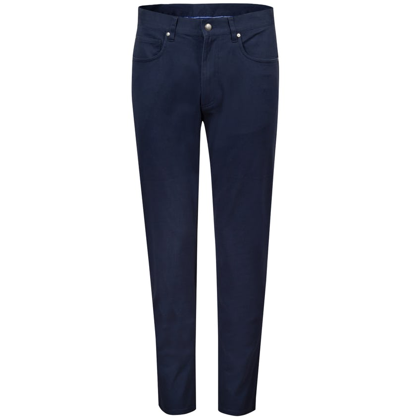 Sueded Cotton Twill 5-Pocket Pant Navy - SS21