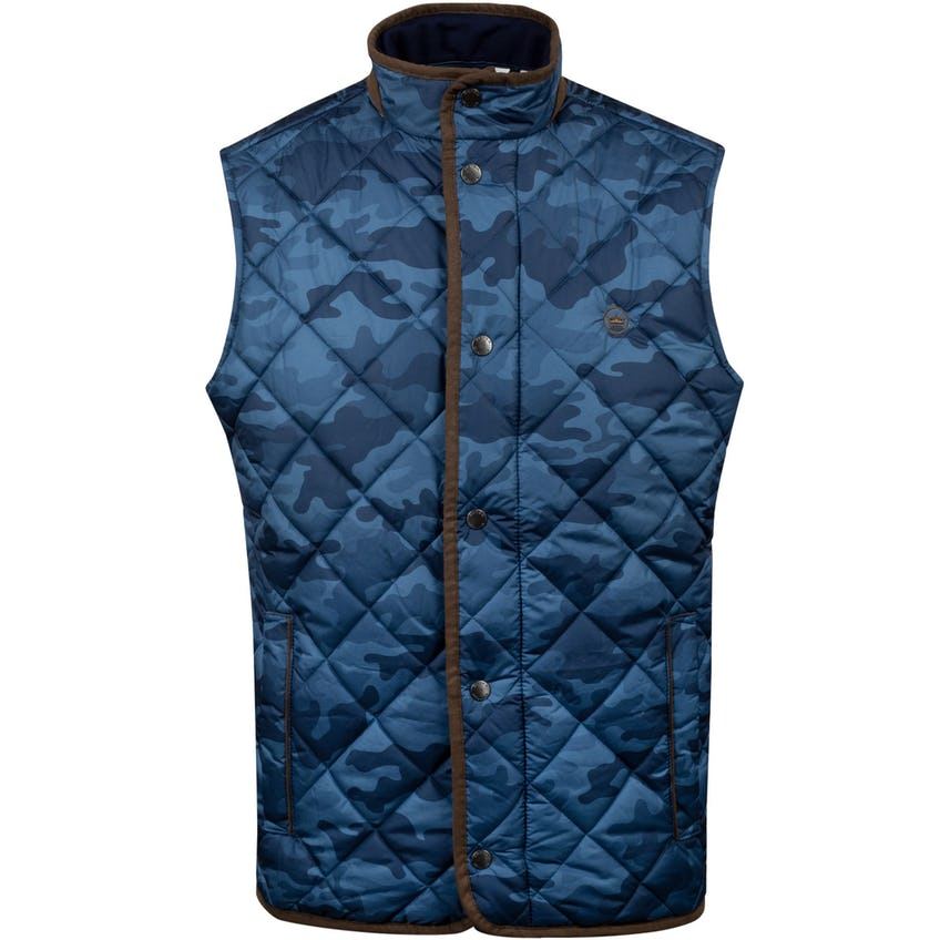 Essex Quilted Travel Vest Navy Camo - AW20 0