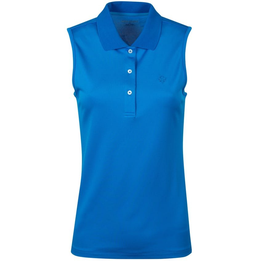 Womens Classic Tech Pique Sleeveless Polo Vintage Blue - AW20