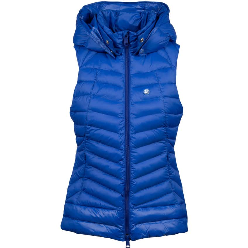 Womens Hooded Puffer Vest Lapis - AW20