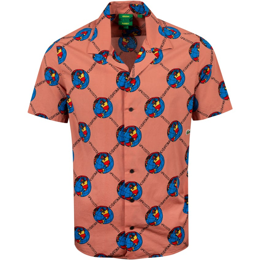 Chinatown Market Camp Collar World Woven Shirt Sand  - AW20 0