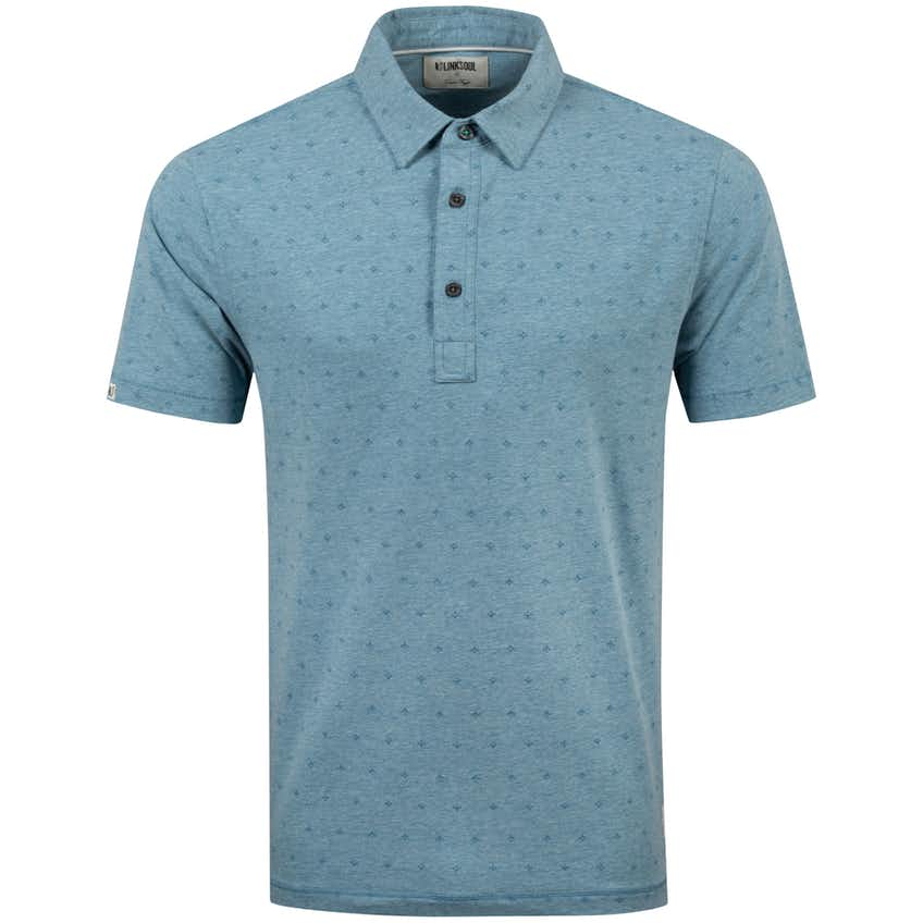 Stretch All-Over Print Polo Abalone Heather - SS20