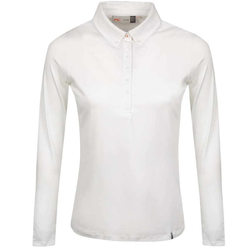 Womens Scotscraig Polo LS White - 2021