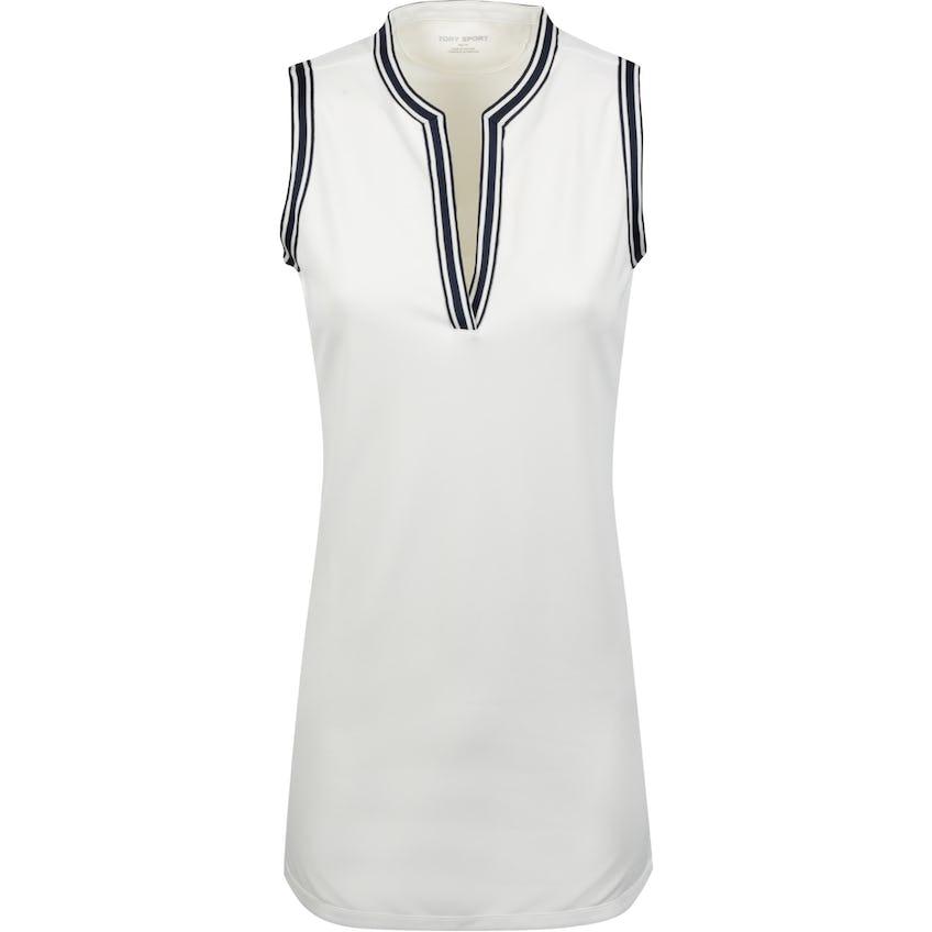 Tory Sport Womens Sleeveless Tunic Dress Snow White - SS20
