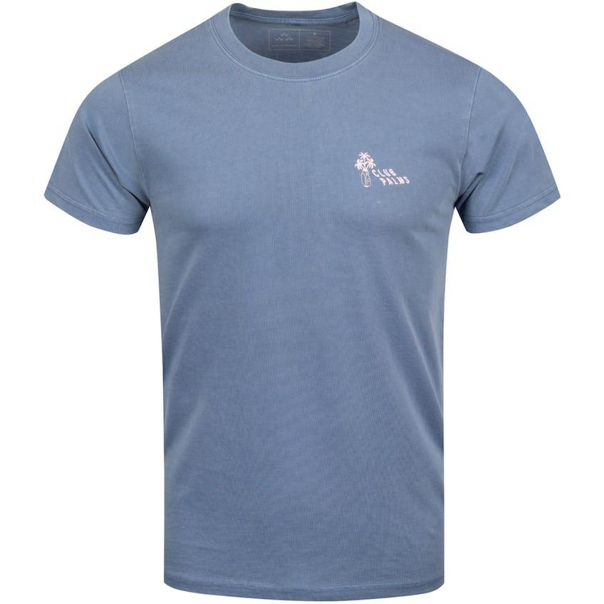 Club Palms T-Shirt Blue - 2021
