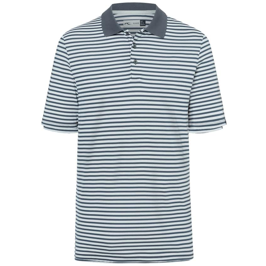 Luis Stripe Polo Silver Fog/Steel Grey - 2021