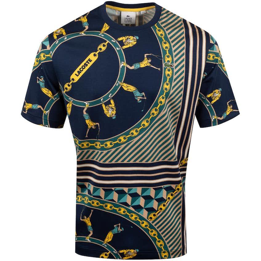 Scarf Print T-Shirt Navy - SS20