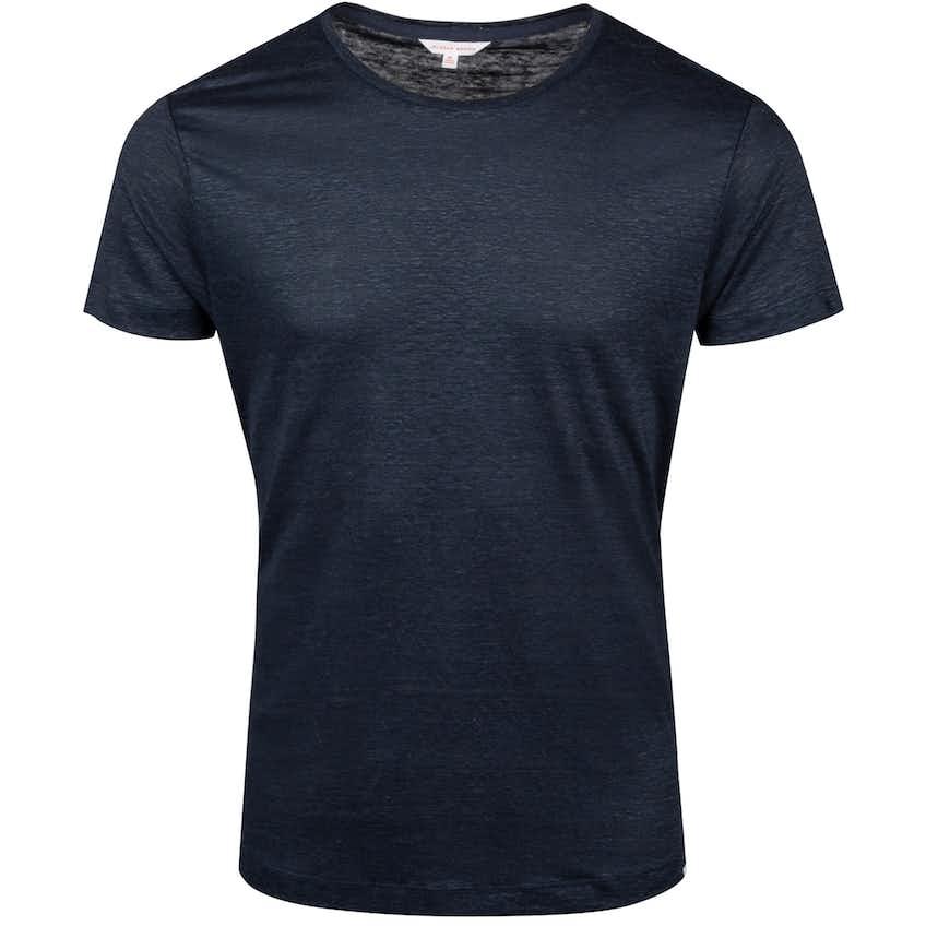 OB-T Linen Round Neck T-Shirt Navy - Summer 20