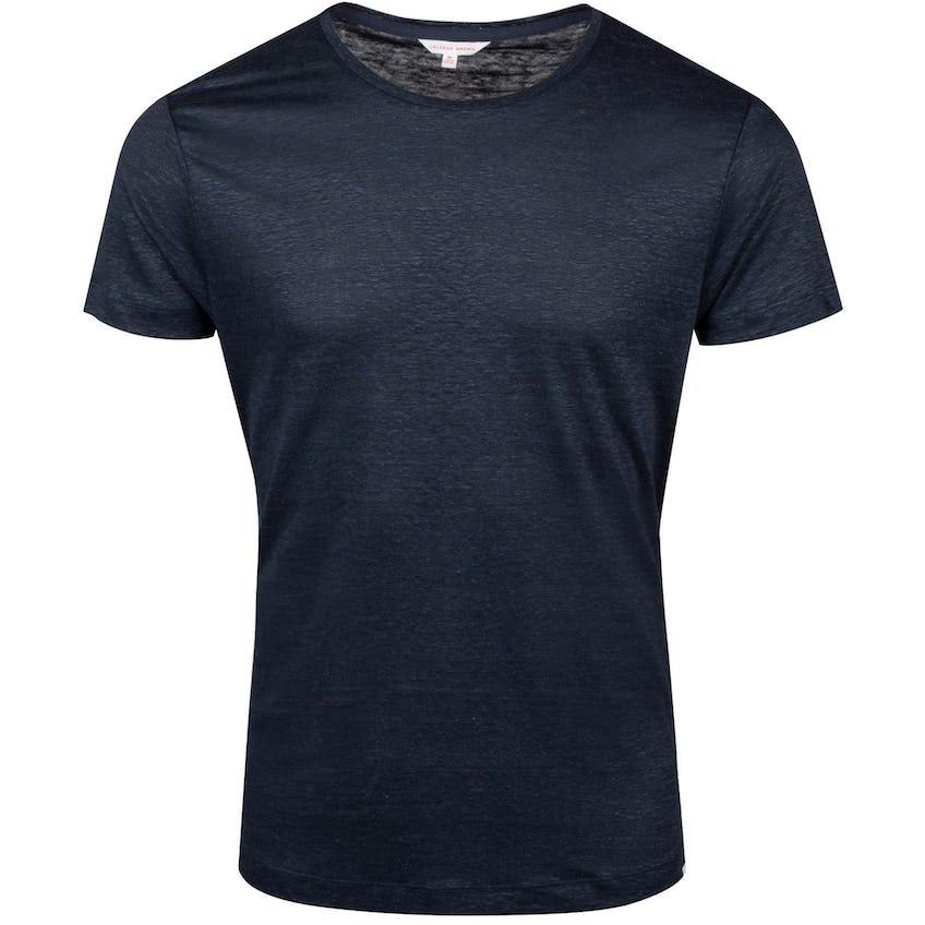 OB-T Linen Round Neck T-Shirt Navy - Summer 20 0