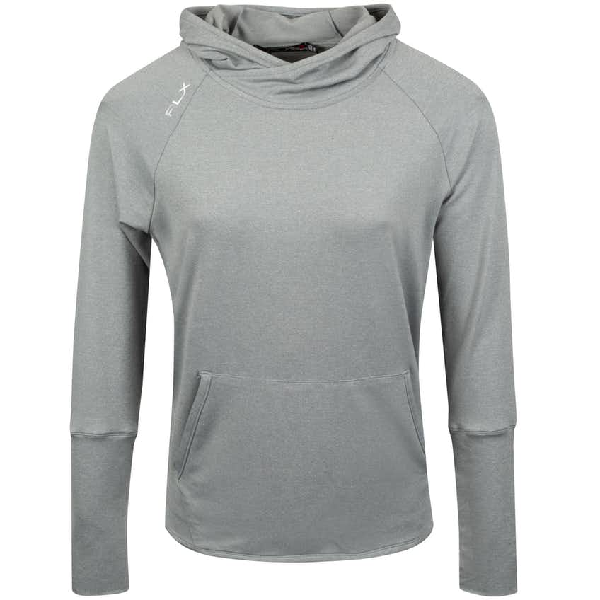 Womens Reflective Crossover Hoodie Light Grey Heather - SS20