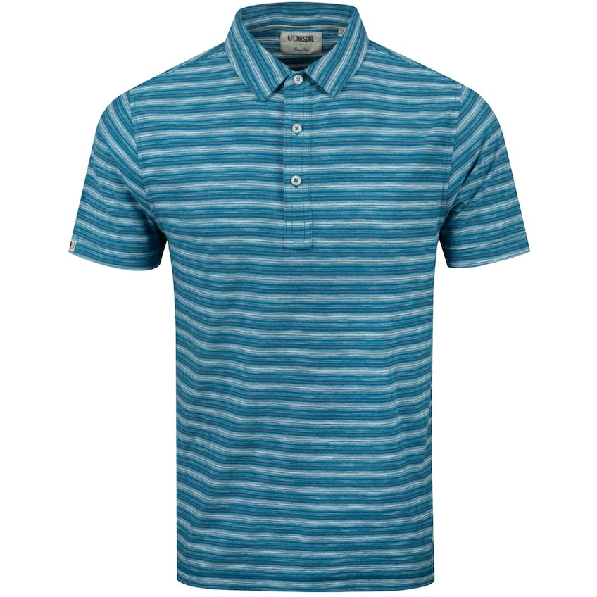 Yarn-Dye Stripe Polo Abalone Heather - SS20