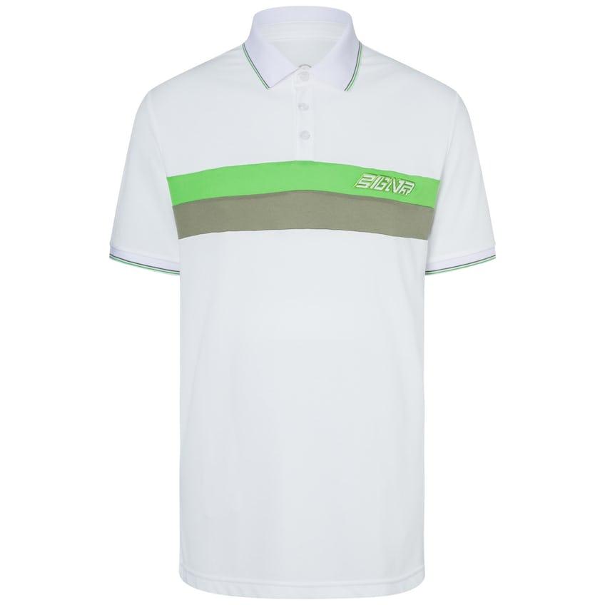 Lewi Polyester Pique Polo White/Green - SS20 0