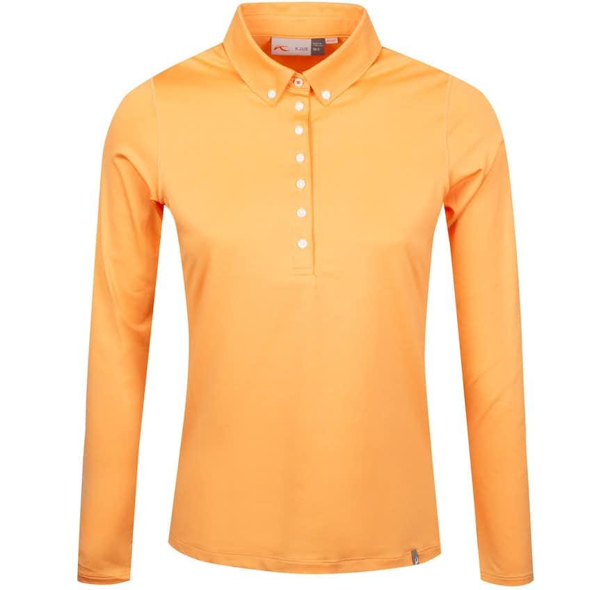 Womens Scotscraig Polo LS Orange Flower - SS19