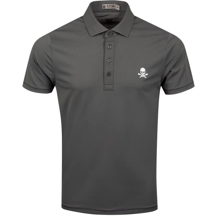x TRENDYGOLF Skull Pique Polo Charcoal - SS20