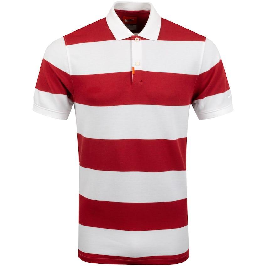 The Golf Stripe Polo Sierra Red - SS20