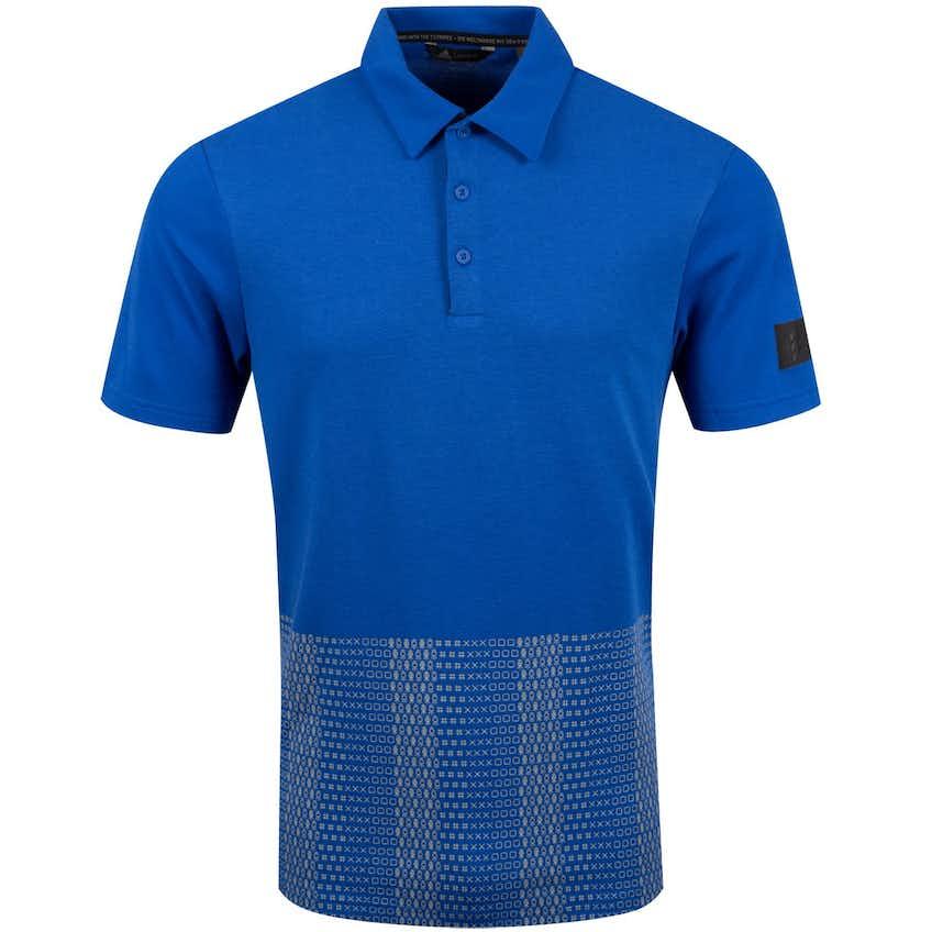 Adicross Novelty Print Polo Team Royal Blue - SS20
