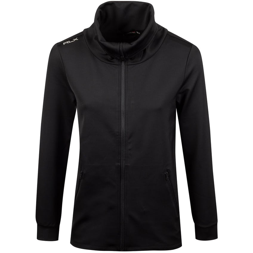 Womens LS Funnel Neck Tunic Polo Black - SS20