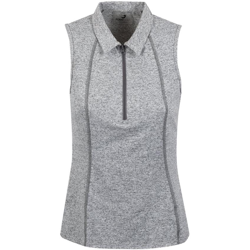Foray Womens Incognito Sleeveless Polo Marl Grey - 2020