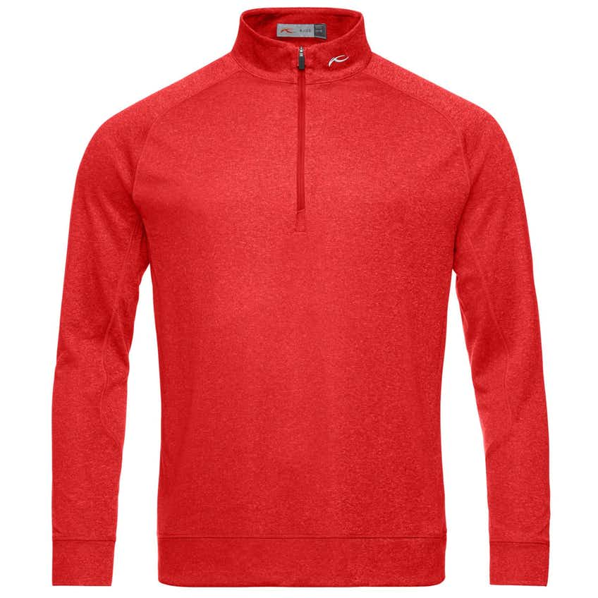 Keano Half Zip Jungle Red Melange - SS20
