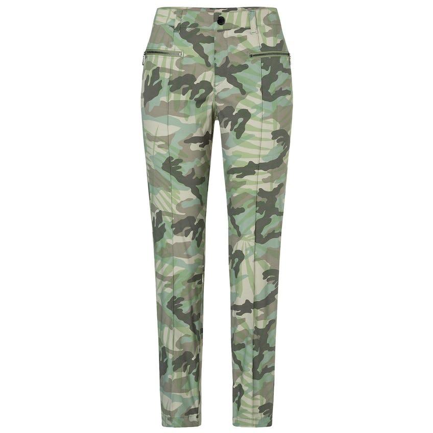 Womens Karen-G Camo Palm Leaf Print Trousers Seaweed - SS20 0