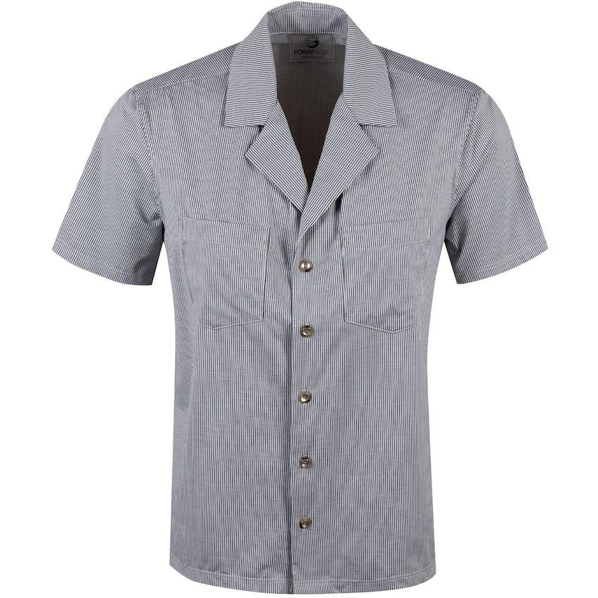 Foray Womens Camp Shirt York Grey Stripe - 2020 0