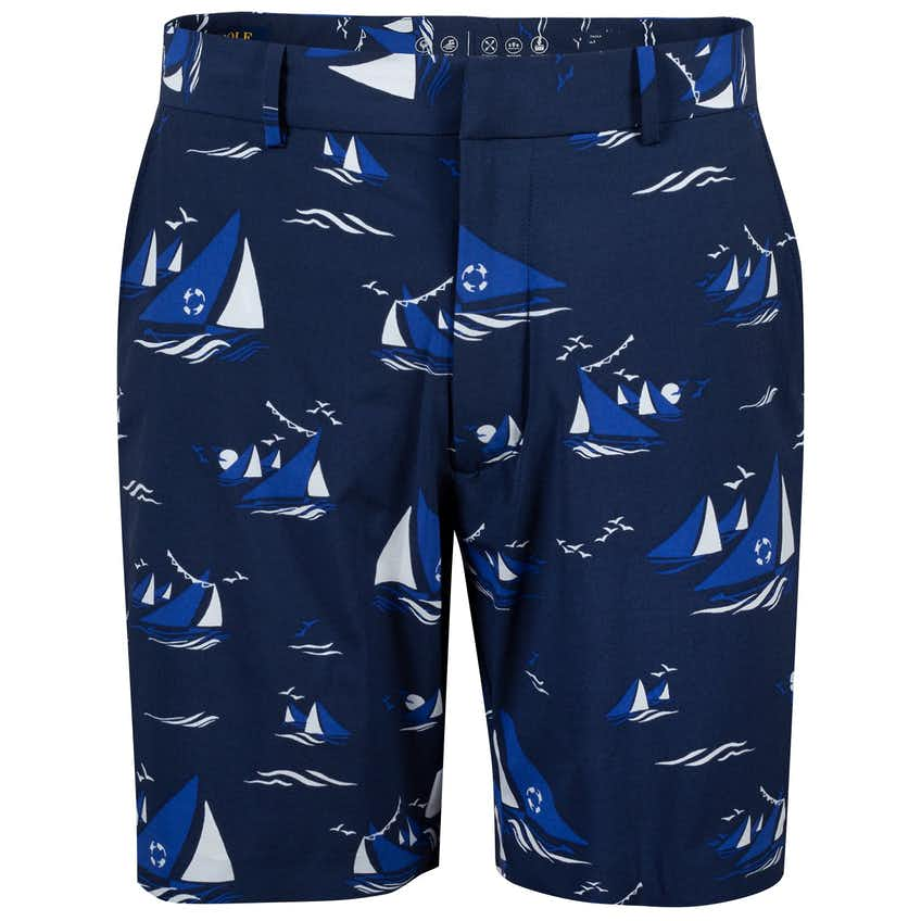 Classic Fit Links To Beach Trunk Large Monaco Sailboats - SS20