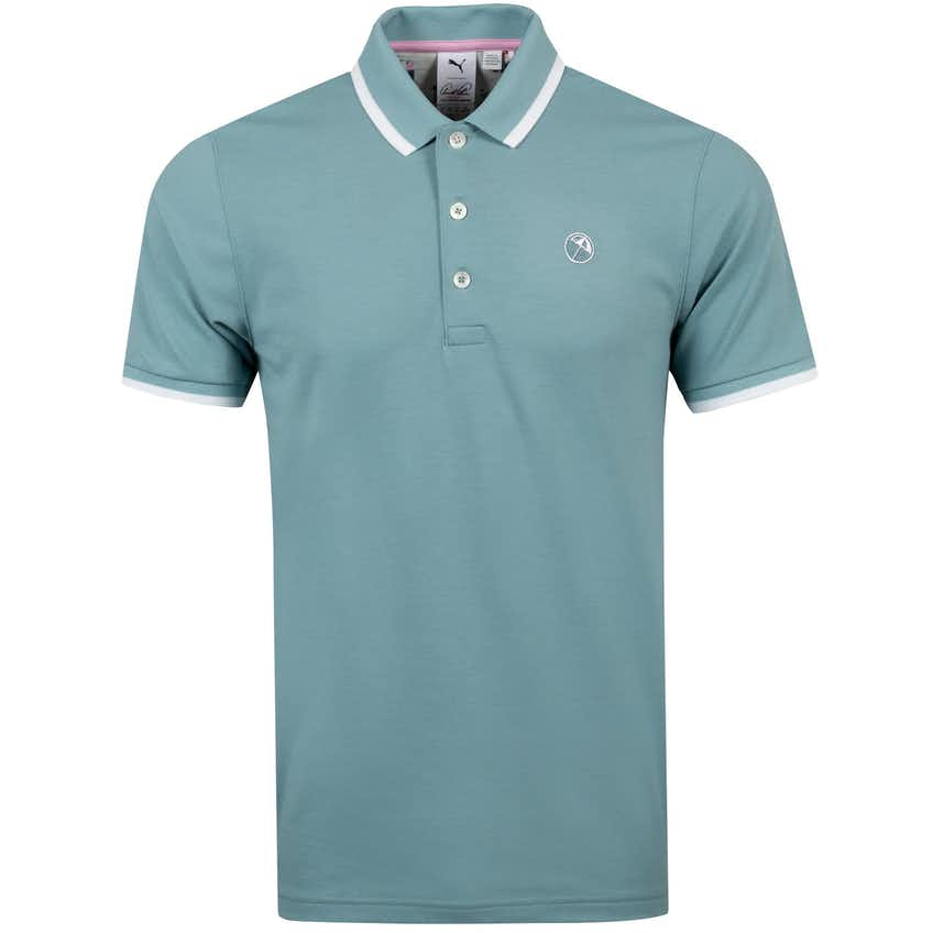 Signature Tipped Polo Stone Blue - AW20