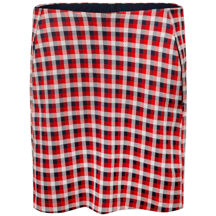 Tory Sport Womens Perfomance Jacquard Skirt Red Perfect Check - AW20 0