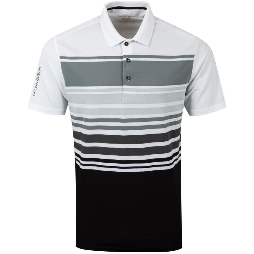 Miguel Ventil8+ Polo Shirt White/Sharkskin/Cool Grey/Black - AW20