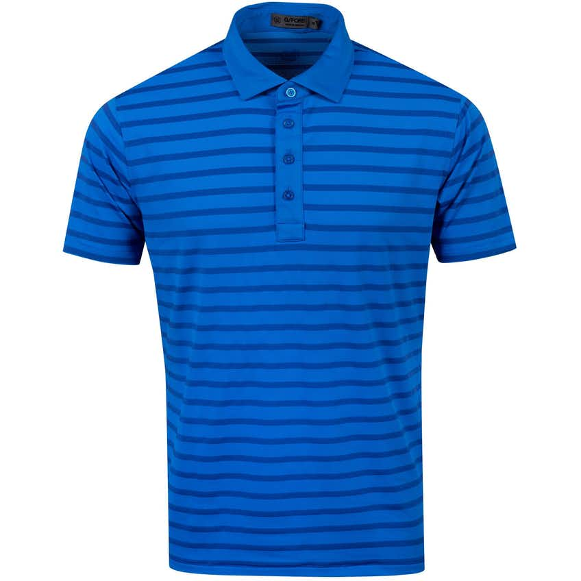 Perforated Stripe Polo Cobalt - AW20