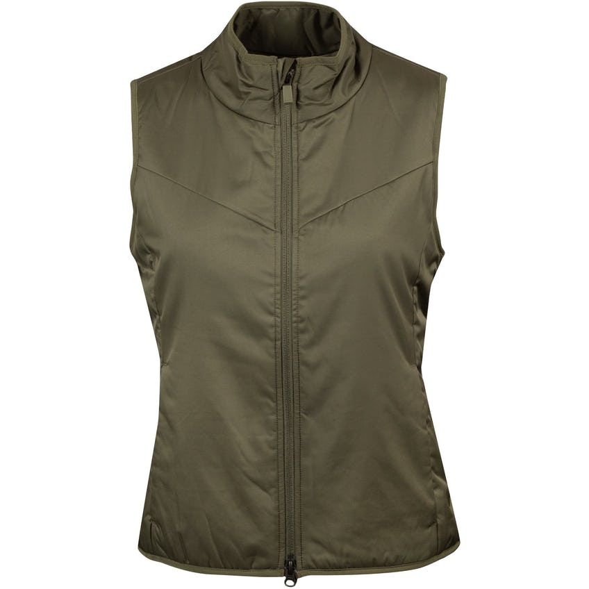 Womens Warm Filled Reversible Vest  Medium Olive - AW20