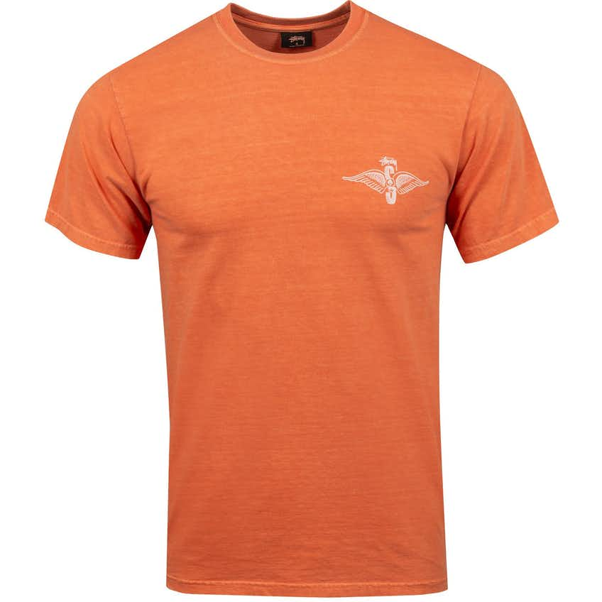 Skull Wings Pig Dyed T-Shirt Pale Orange - AW20