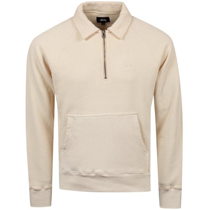 Zip Fleece Polo Beige - 2021