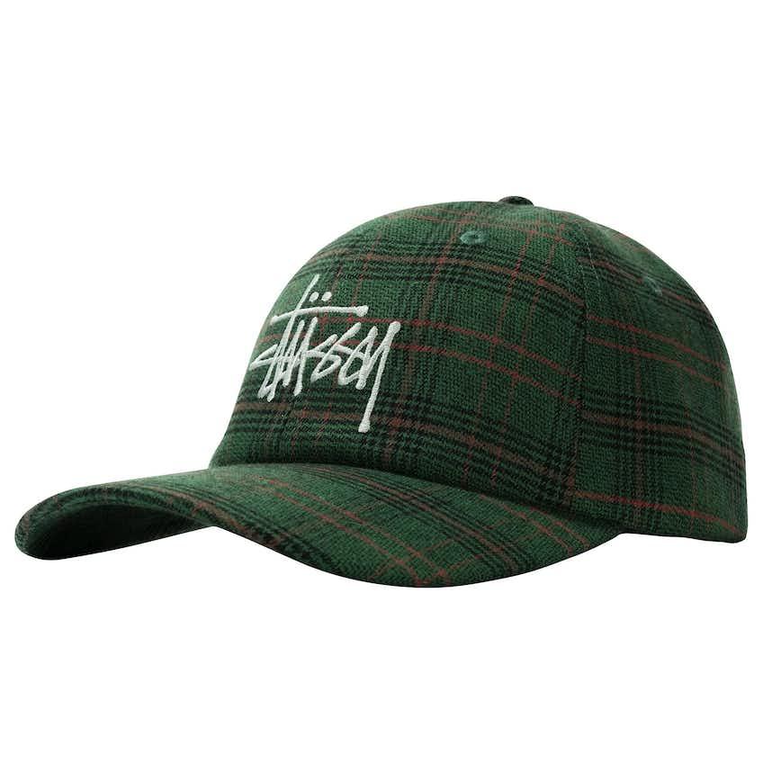 Big Logo Plaid Low Pro Cap Green - AW20
