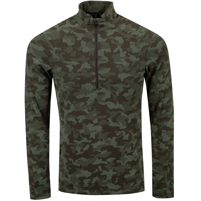 x TRENDYGOLF Surge Warm 1/2 Zip Heritage Camo Dark Olive Green Twill - 2021