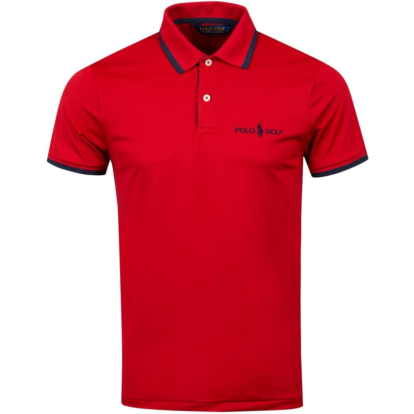 JT Tour Logo Air Tech Pique Polo Red - AW20