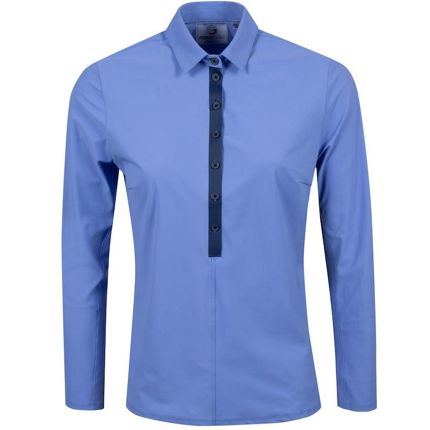 Foray Womens CORE Long Sleeve Polo Baja Blue - 2021 0