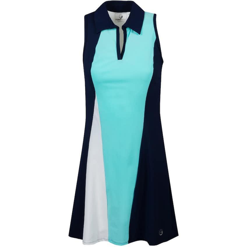Foray Womens Current Wave Dress Acqua - AW20