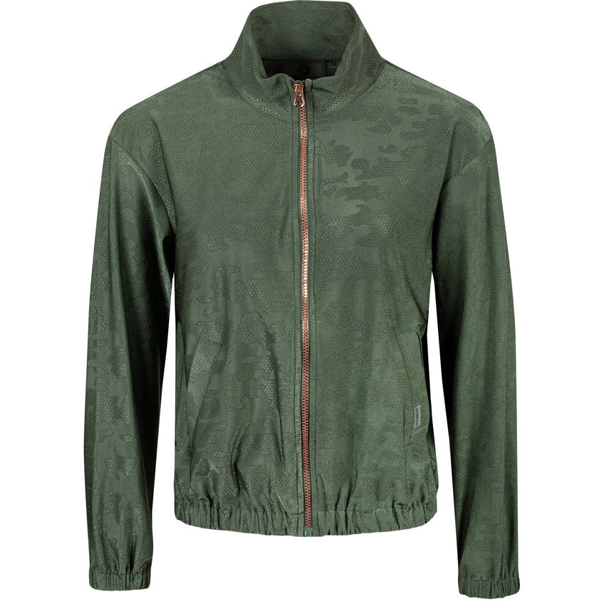 Foray Womens Frosted Floom Track Jacket Olive Camo - AW20 0