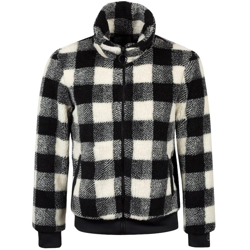 Foray Womens Club Quarters Sherpa Fleece Jacket Black Checkered Print - AW20 0