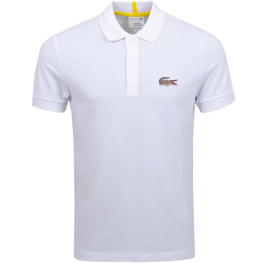 x National Geographic Leopard Print Croc Polo White - AW20